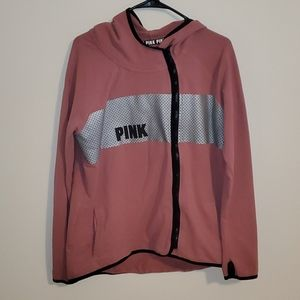 VS PINK stretchy hoodie with thumb holes